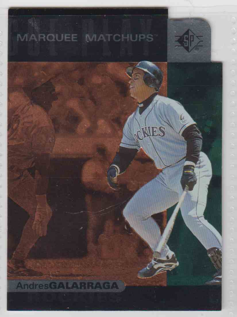 1997 SP Marquee Matchups Andres Galarraga #MM2 card front image