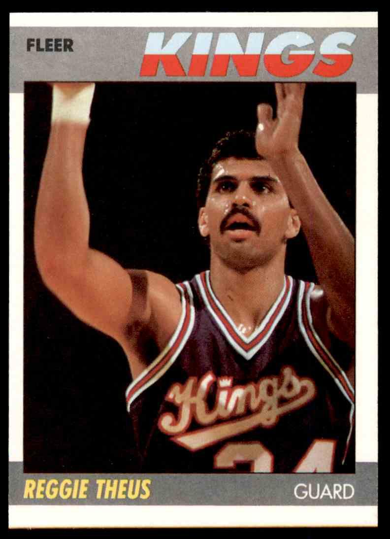 1987-88 Fleer Basketball Reggie Theus #105 card front image