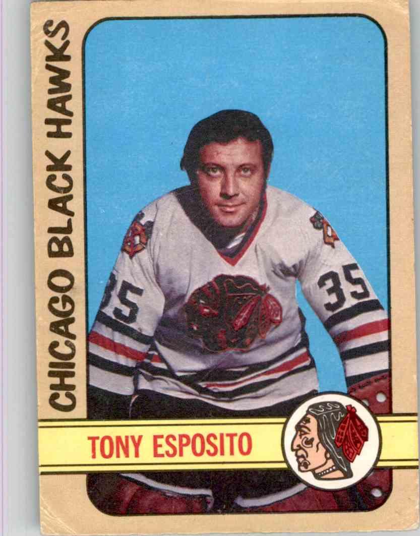 1972-73 O-Pee-Chee Tony Esposito #137 card front image