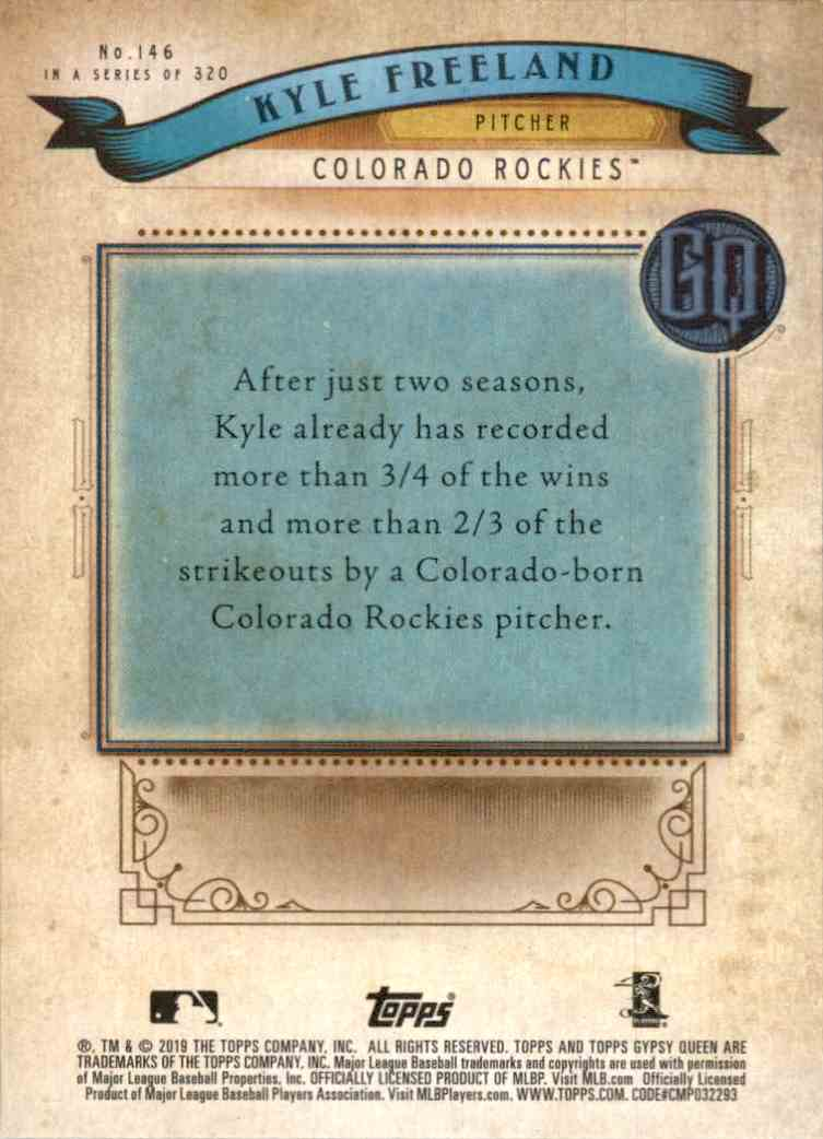 2019 Gypsy Queen Kyle Freeland #146 card back image