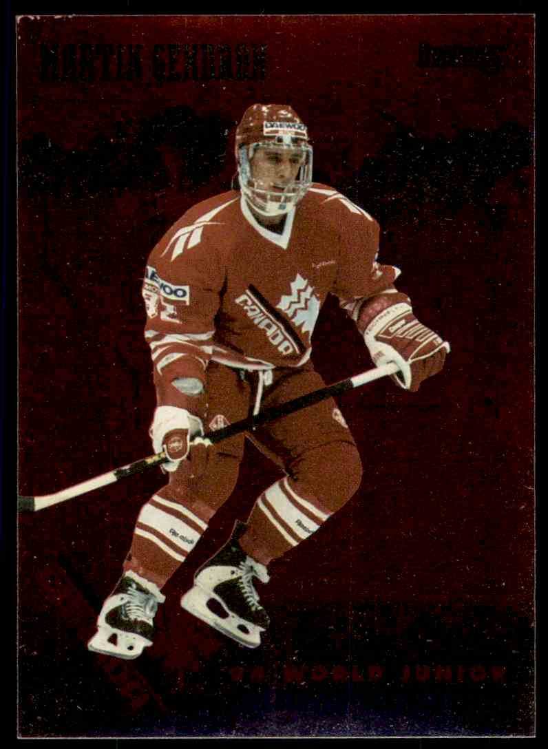 1995-96 Donruss Canadian World Junior Team Martin Gendron #CAN 13 card front image