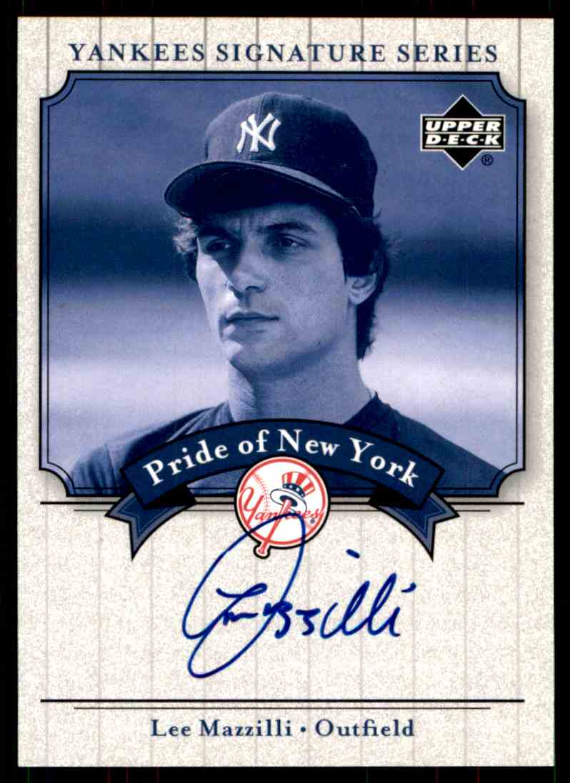 2003 Upper Deck Yankees Siganture Series Lee Mazzilli card front image