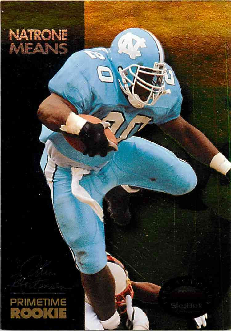 1993 Skybox Primetime Rookie Natrone Means #PR7 card front image