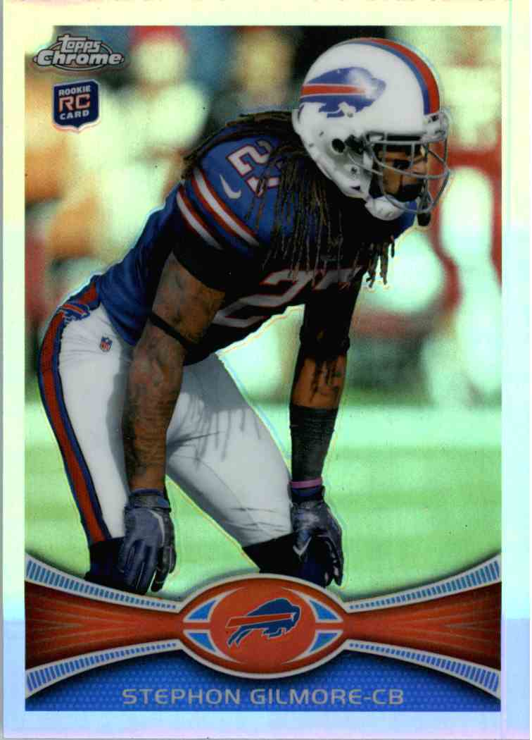2012 Topps Chrome Stephon Gilmore #26 card front image