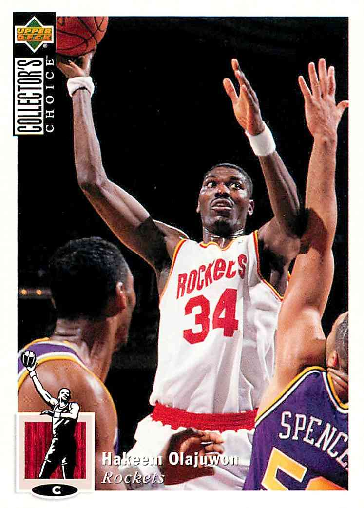 1994-95 Collector's Choice Hakeem Olajuwon #34 card front image