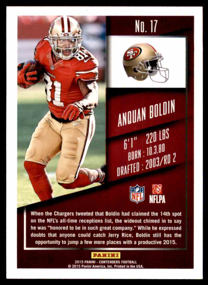 2015 Panini Contenders Anquan Boldin #17 card back image