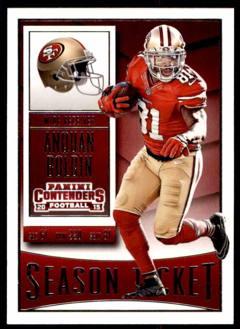 2015 Panini Contenders Anquan Boldin #17 card front image