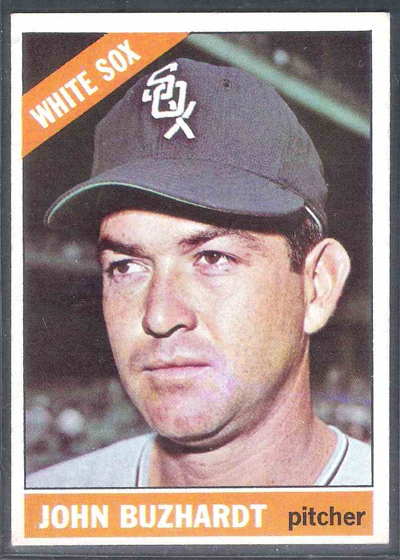 1966 Topps John Buzhardt #245 card front image