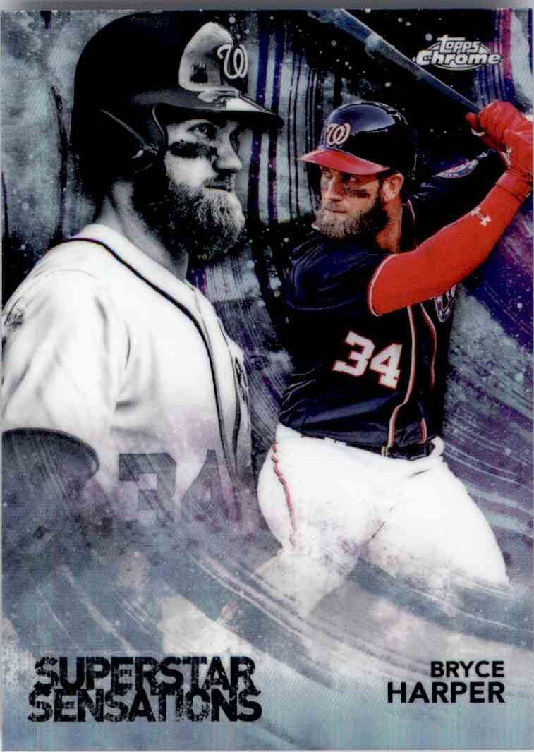 2018 Topps Chrome Superstar Sensations Bryce Harper. #SS-4 card front image