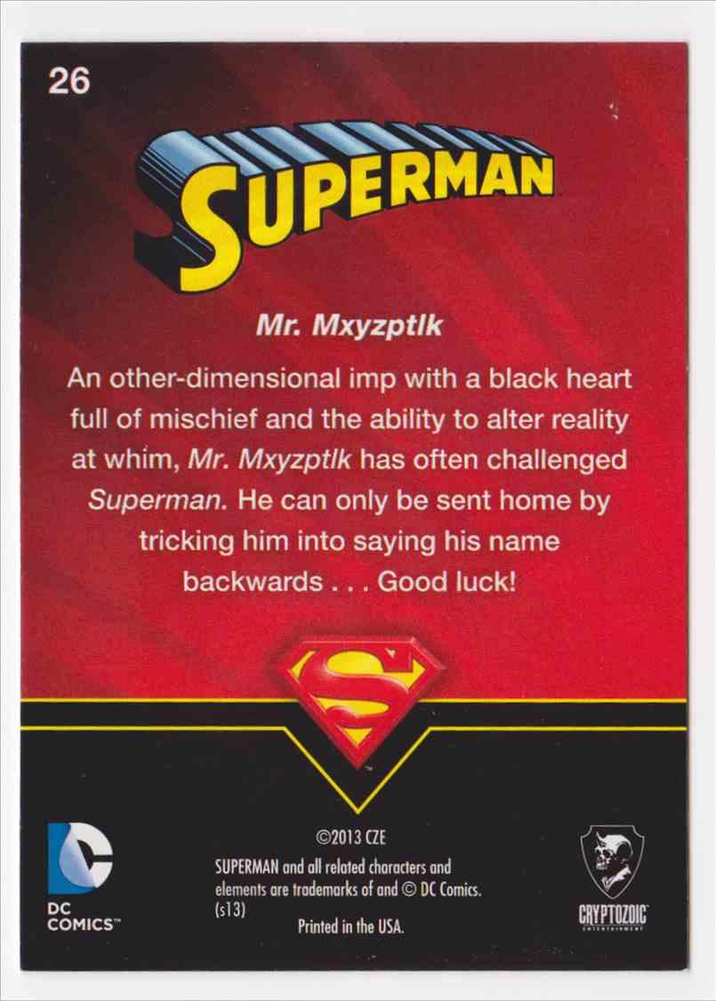 2013 Superman Cryptozoic Superman #26 card back image
