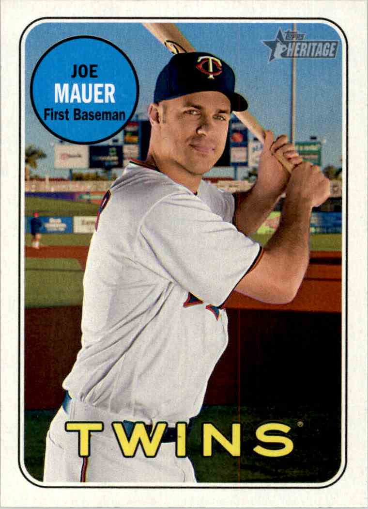 2018 Topps Heritage Joe Mauer #158 card front image