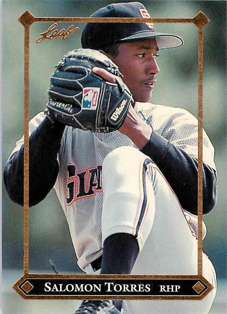 1988 Leaf Salomon Torres #BC-11 card front image