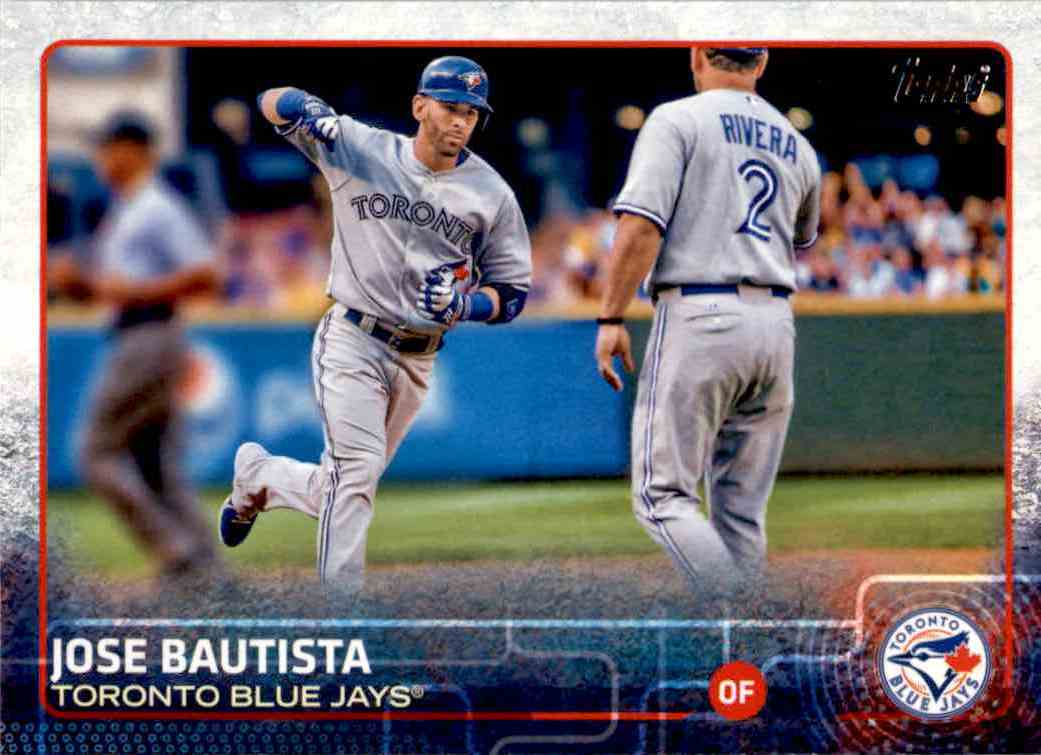 2015 Topps Series 1 Jose Bautista #25 card front image