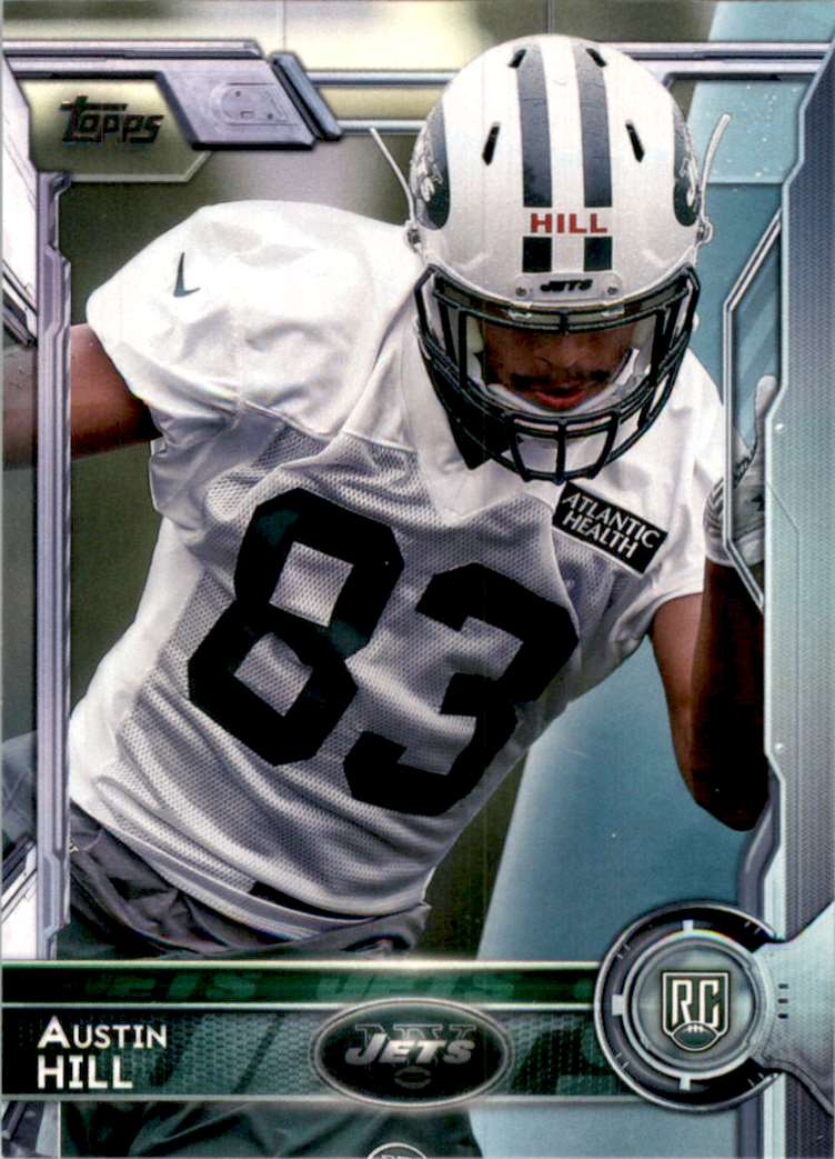 2015 Topps Austin Hill RC #484 card front image