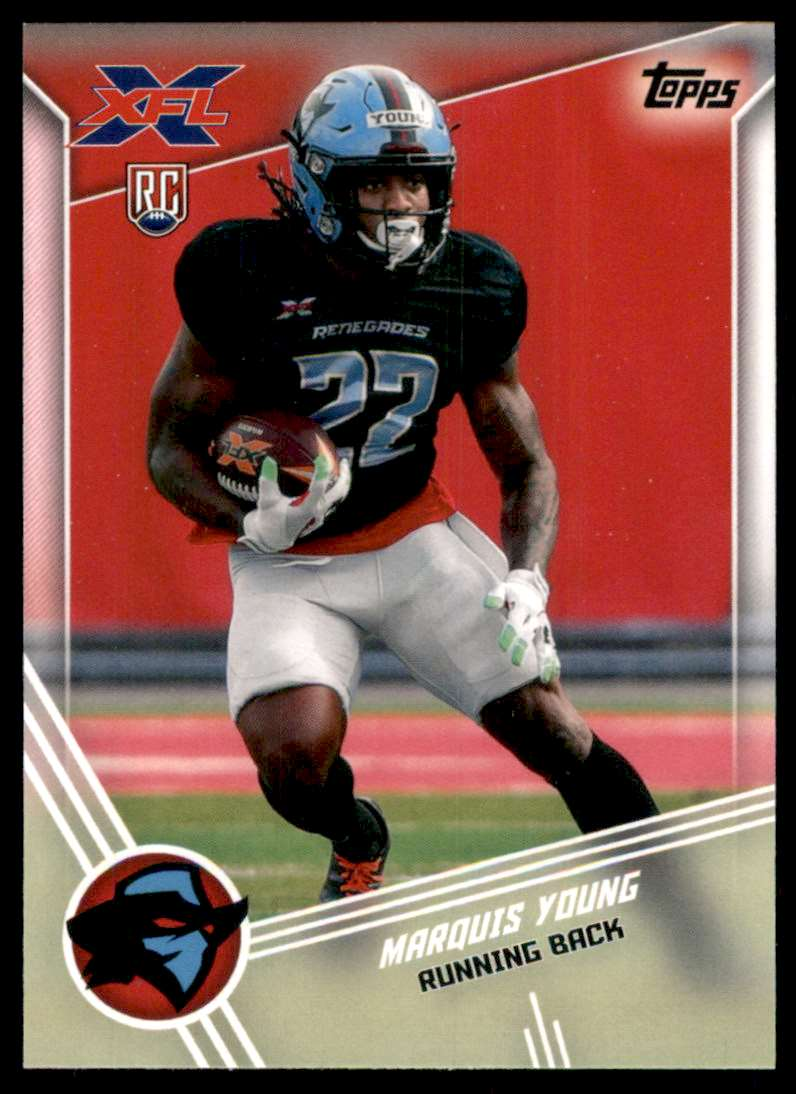 2020 Topps Xfl Marquis Young #59 card front image