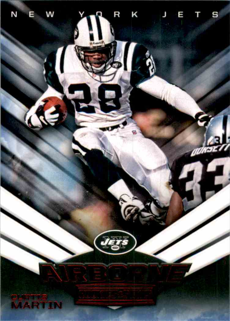 2017 Rookies And Stars Airborne Curtis Martin #14 card front image
