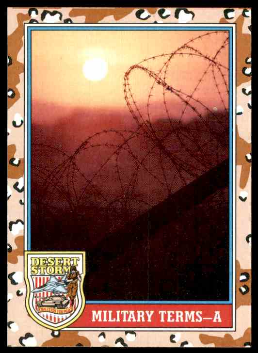 1991 Desert Storm Topps Military Terms - A #143 card front image