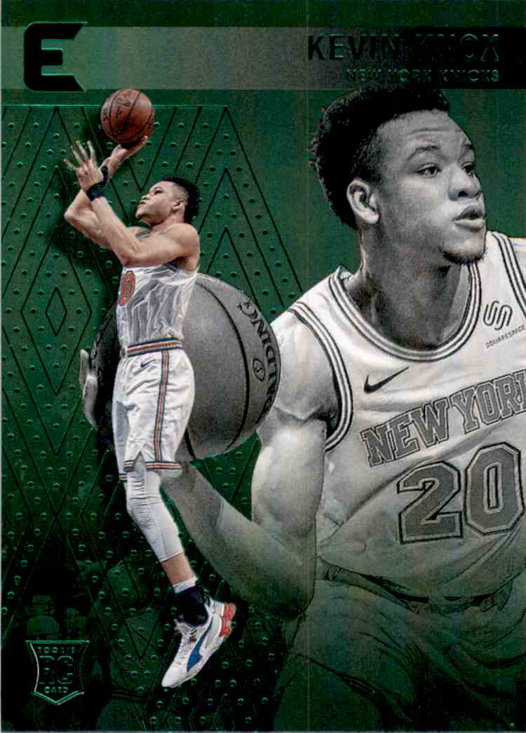 2018-19 Panini Chronicles Green Kevin Knox/Essentials #218 card front image