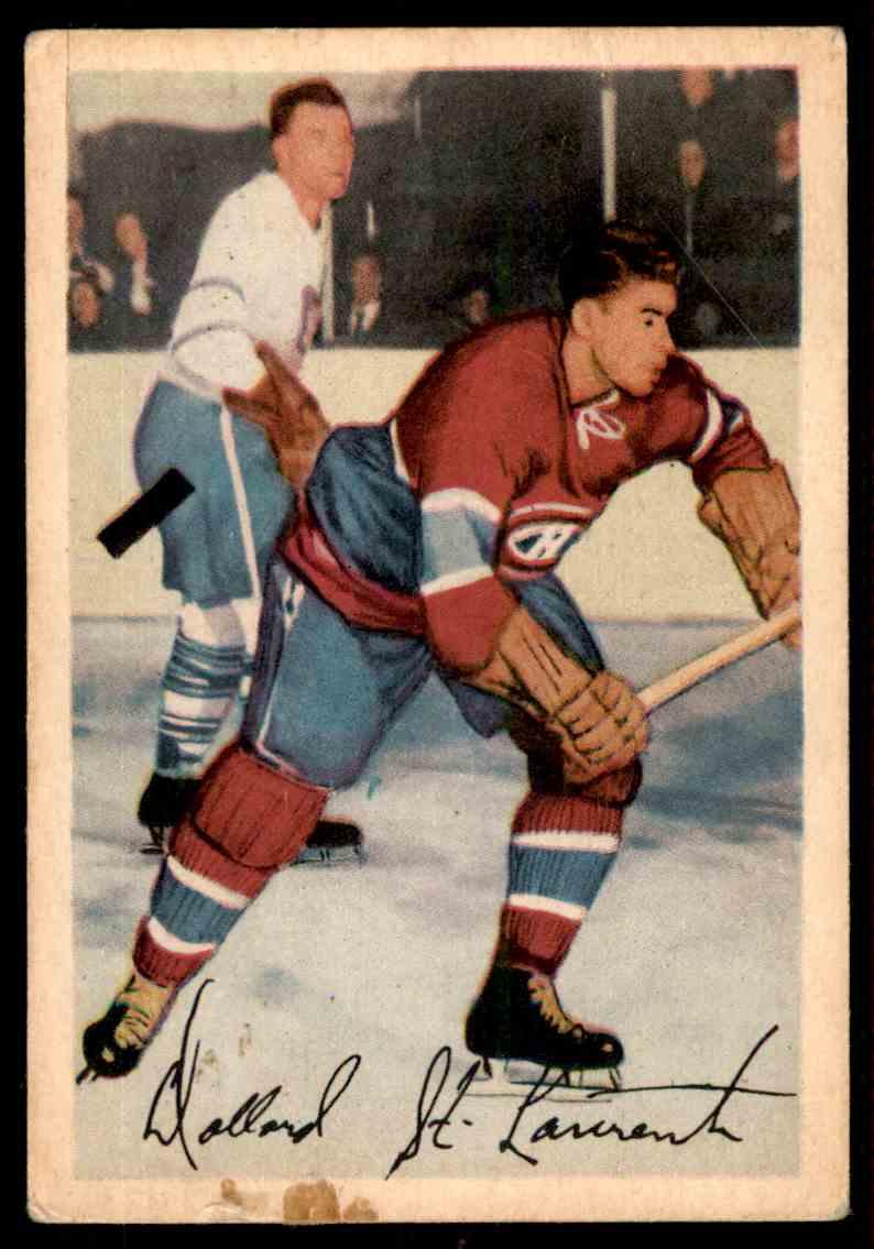1953-54 Parkhurst Dollar St. Laurent #23 card front image