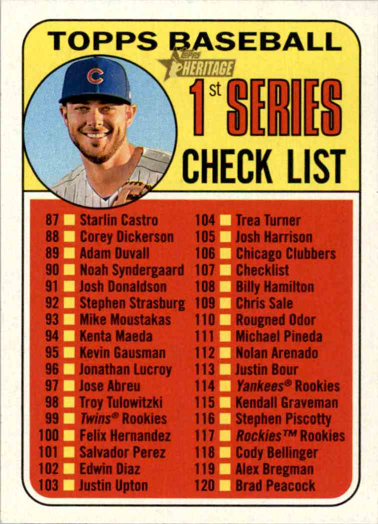 2018 Topps Heritage Kris Bryant #107 card front image