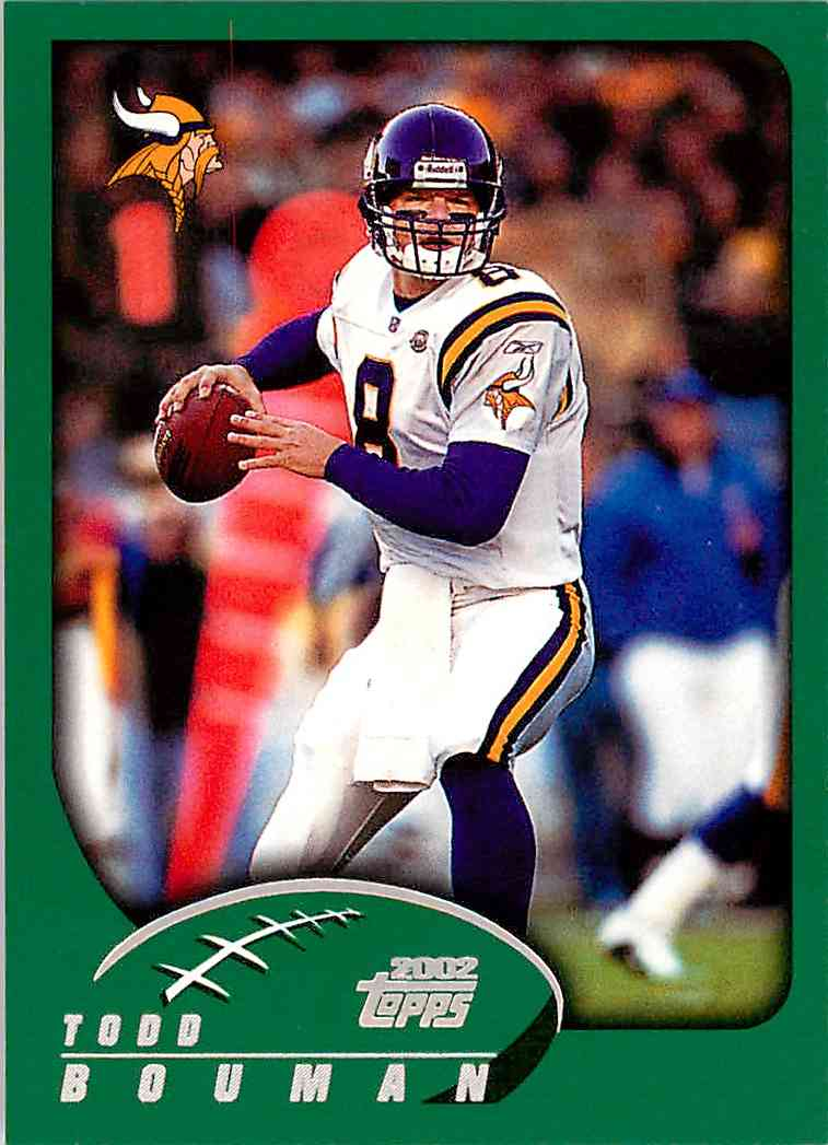2002 Topps Todd Bouman #3 card front image