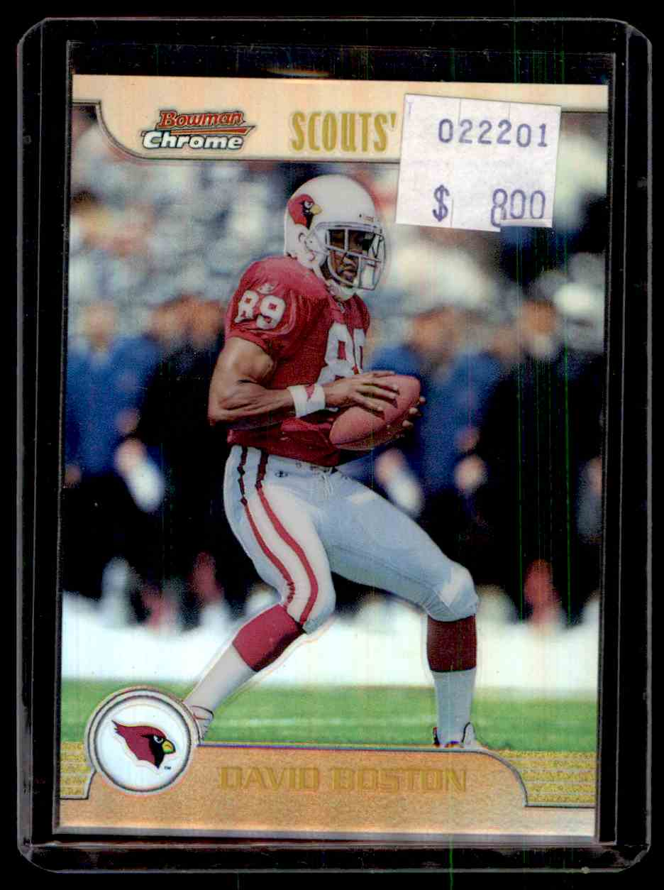 1999 Bowman Chrome Scout's Choice Refractor David Boston #SC1 card front image
