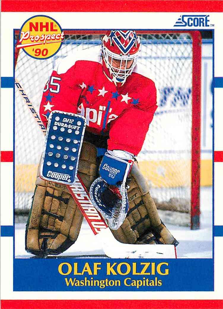 1990-91 Score Olaf Kolzig #392 card front image