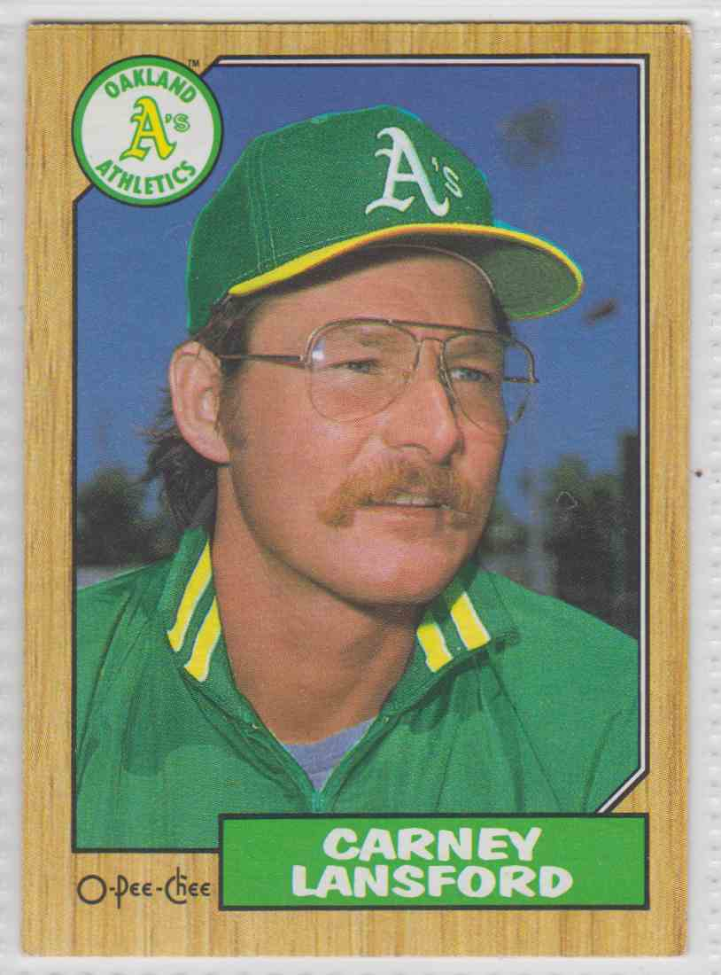 1987 O-Pee-Chee Carney Lansford #69 card front image