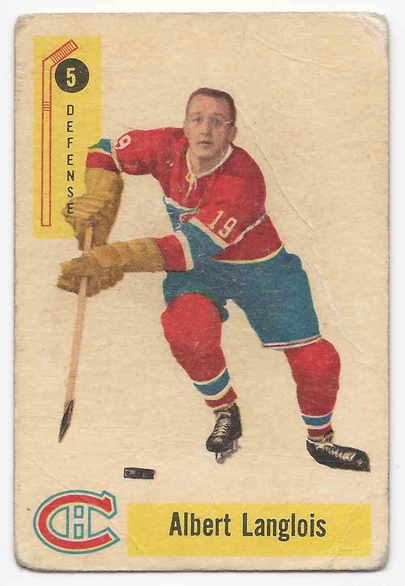 1958-59 Parkhurst Albert Langlois #5 card front image