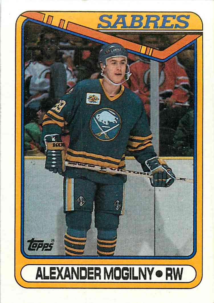 1990-91 Topps Alexander Mogilny #42 card front image