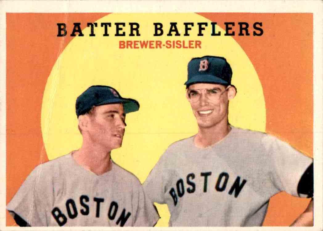1959 Topps Batter Bafflers/Dave Sisler/Tom Brewer #346 card front image