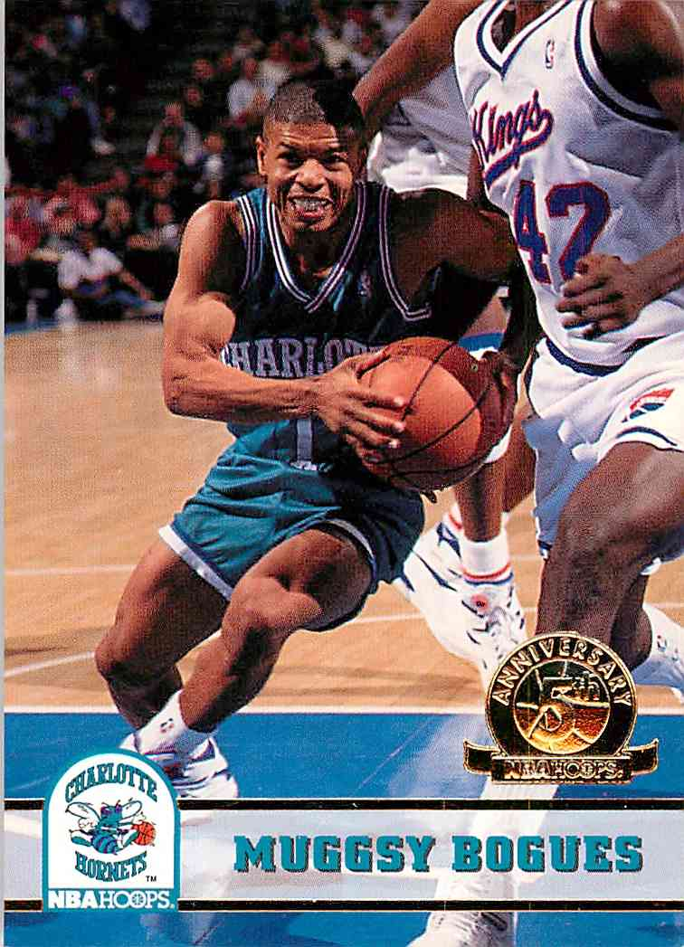 1993-94 Hoops Fifth Anniversary Muggsy Bogues #18 card front image