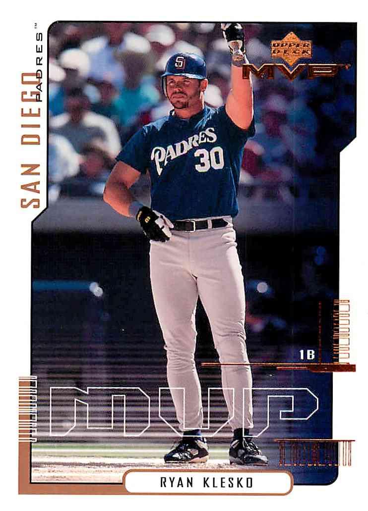2000 Upper Deck Mvp Ryan Klesko #131 card front image