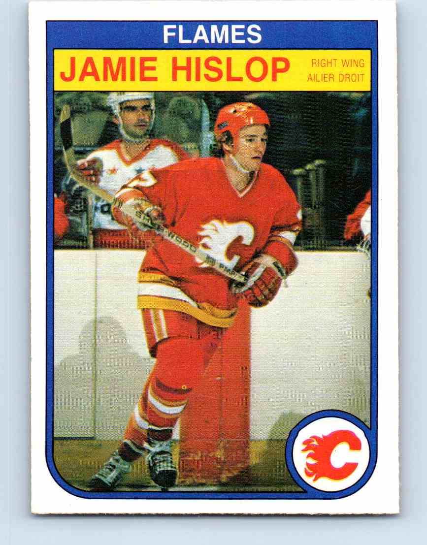 1982-83 O-Pee-Chee Jamie Hislop #47 card front image