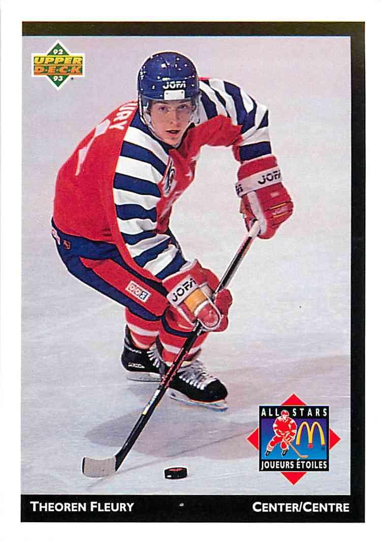1993-94 Upper Deck Mcdonalds Theoren Fleury #MCD-07 card front image