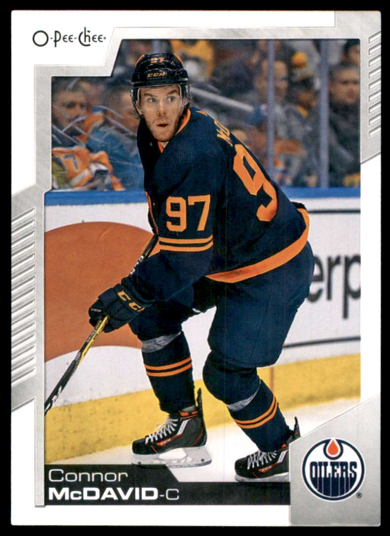 2020-21 O-Pee-Chee Connor McDavid #33 card front image
