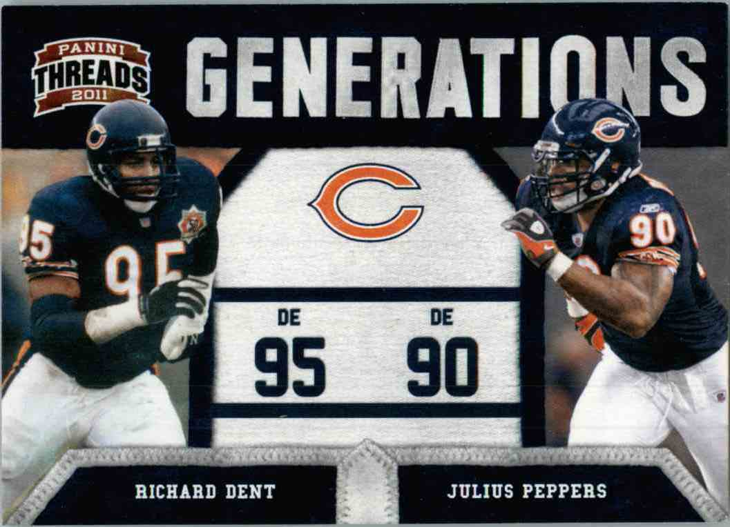 2011 Panini Threads Generations Richard Dent, Julius Peppers #5 card front image