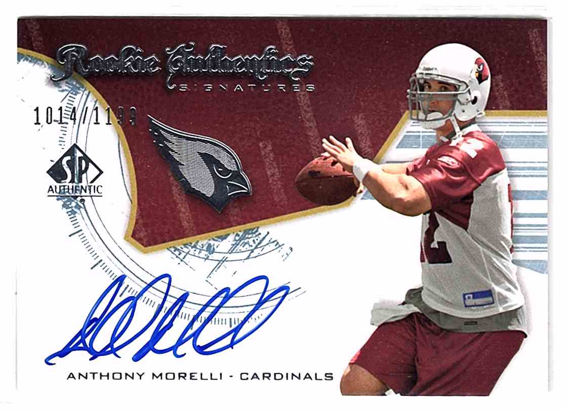 2008 SP Authentic Anthony Morelli #203 card front image