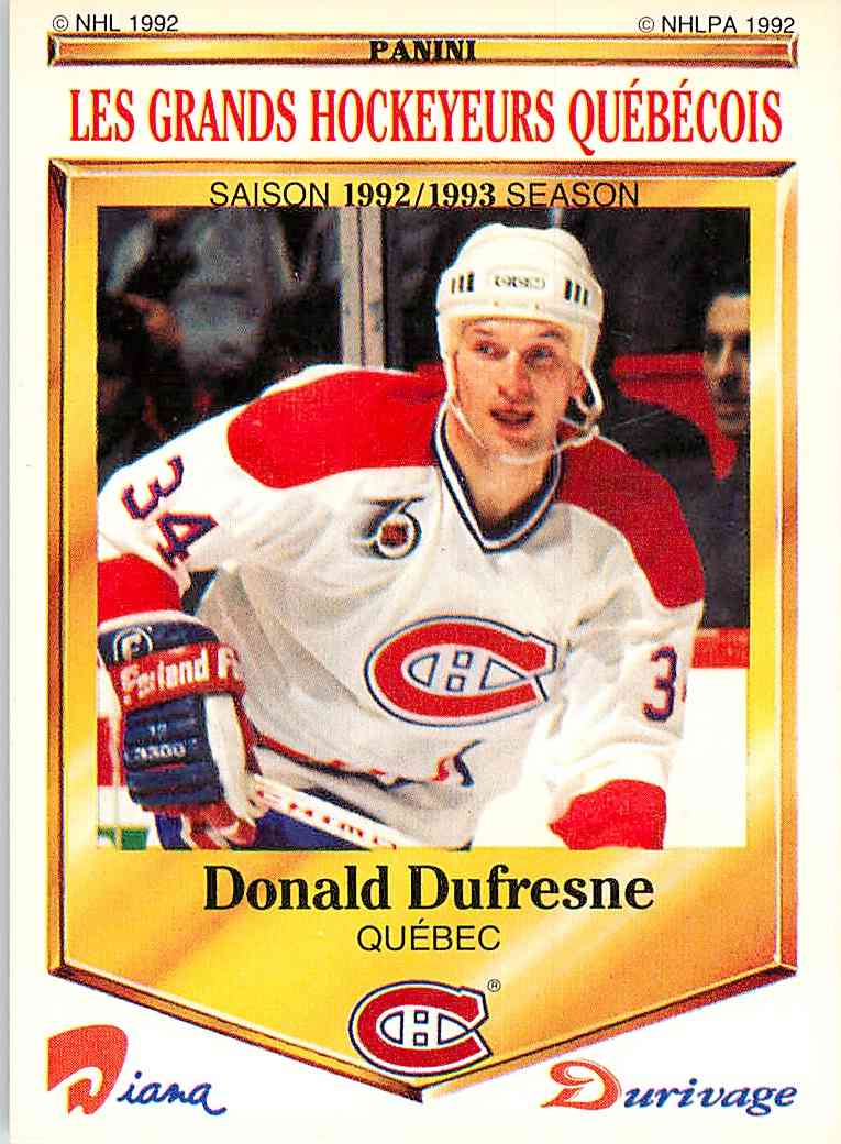 1992-93 Durivage Donald Dufresne #39 card front image