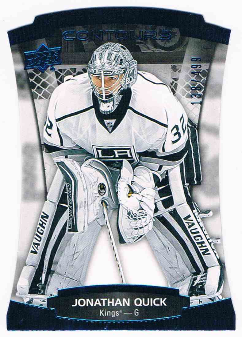 2015-16 Upper Deck Contours Blue Jonathan Quick #28 card front image