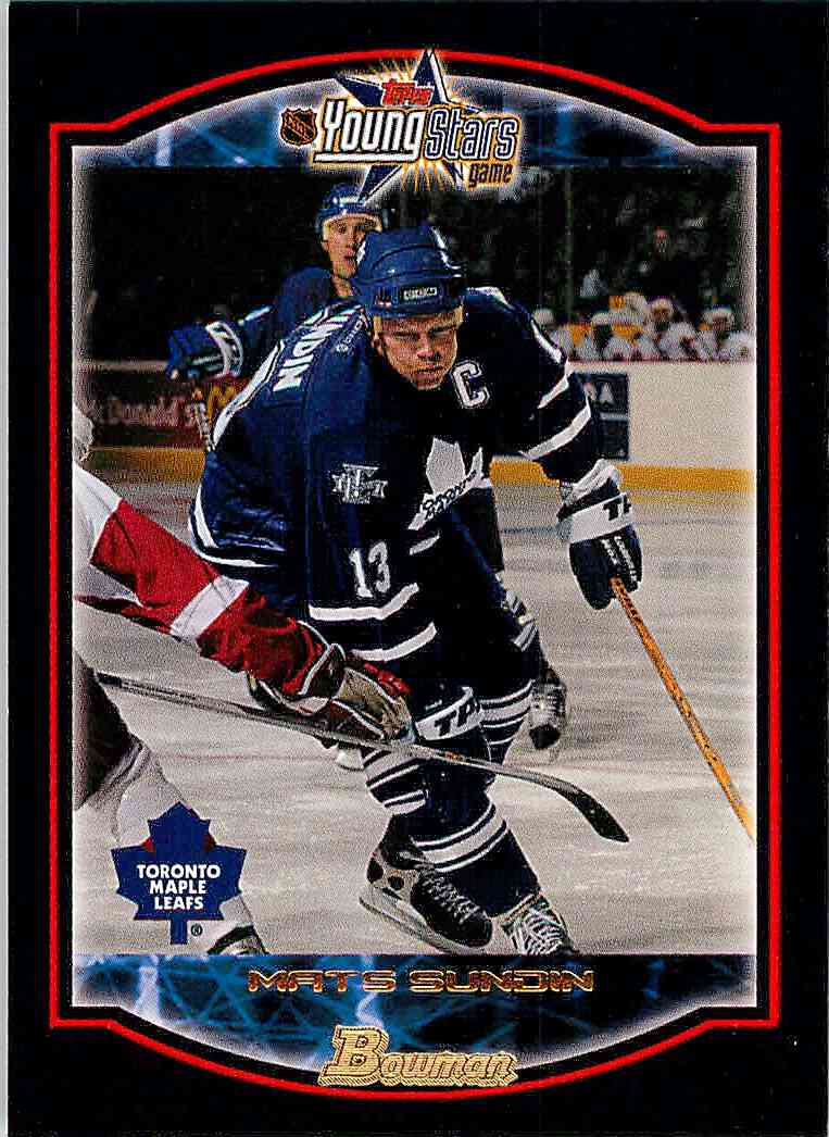 2002-03 Topps Young Star Mats Sundin C #12 card front image