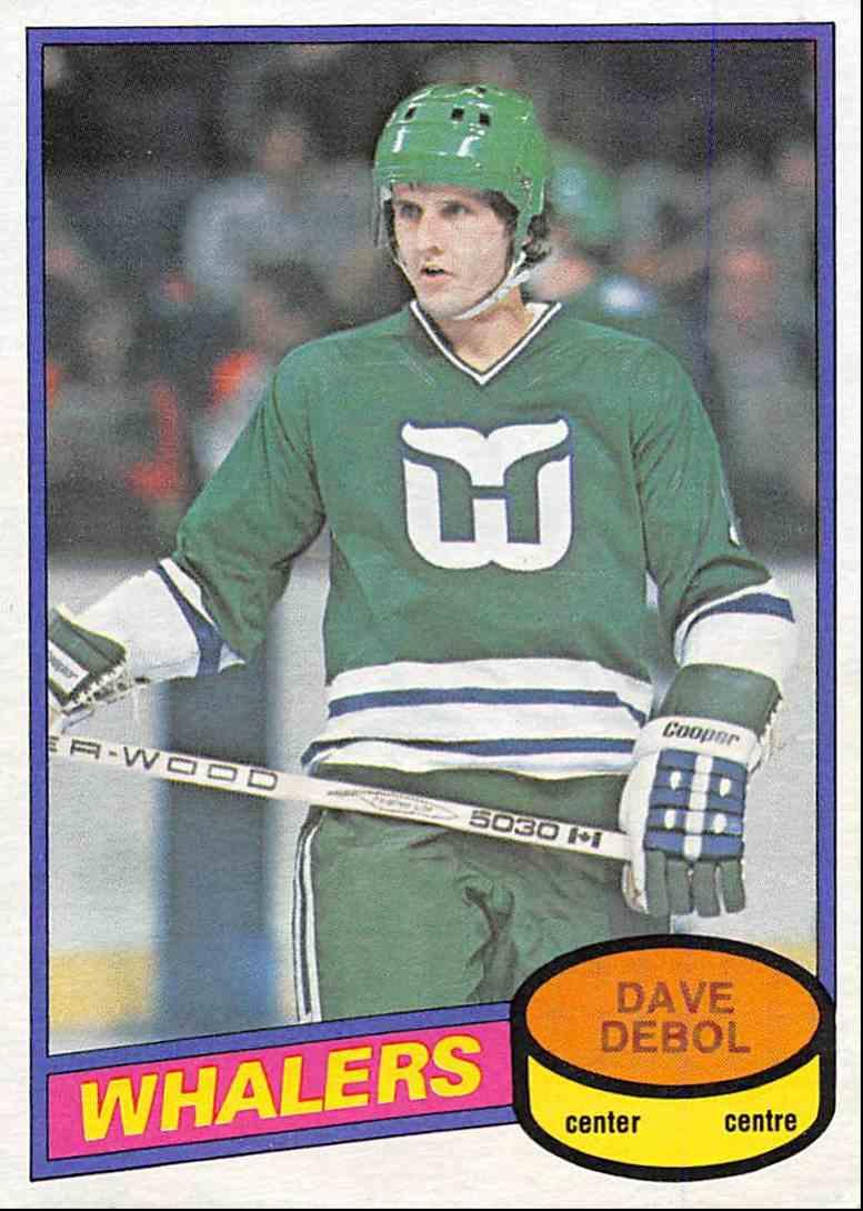 1980-81 O-Pee-Chee Dave Debol #381 card front image