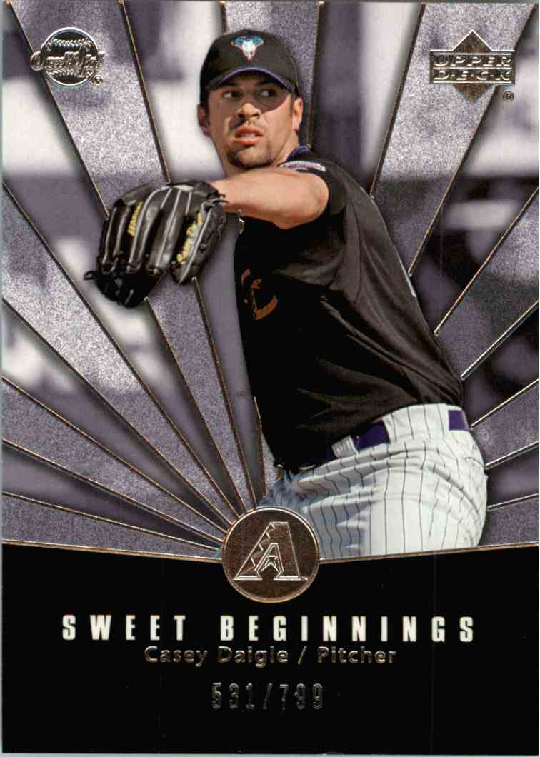2004 Upper Deck Sweet Spot Casey Daigle #98 card front image