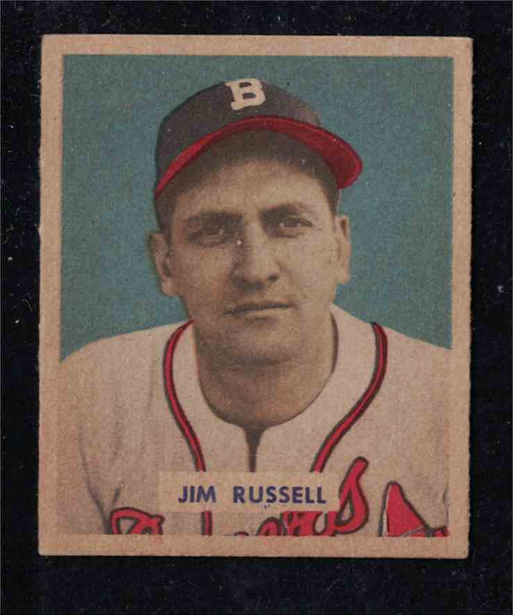 1949 Bowman Jim Russell EX-MT #235 card front image