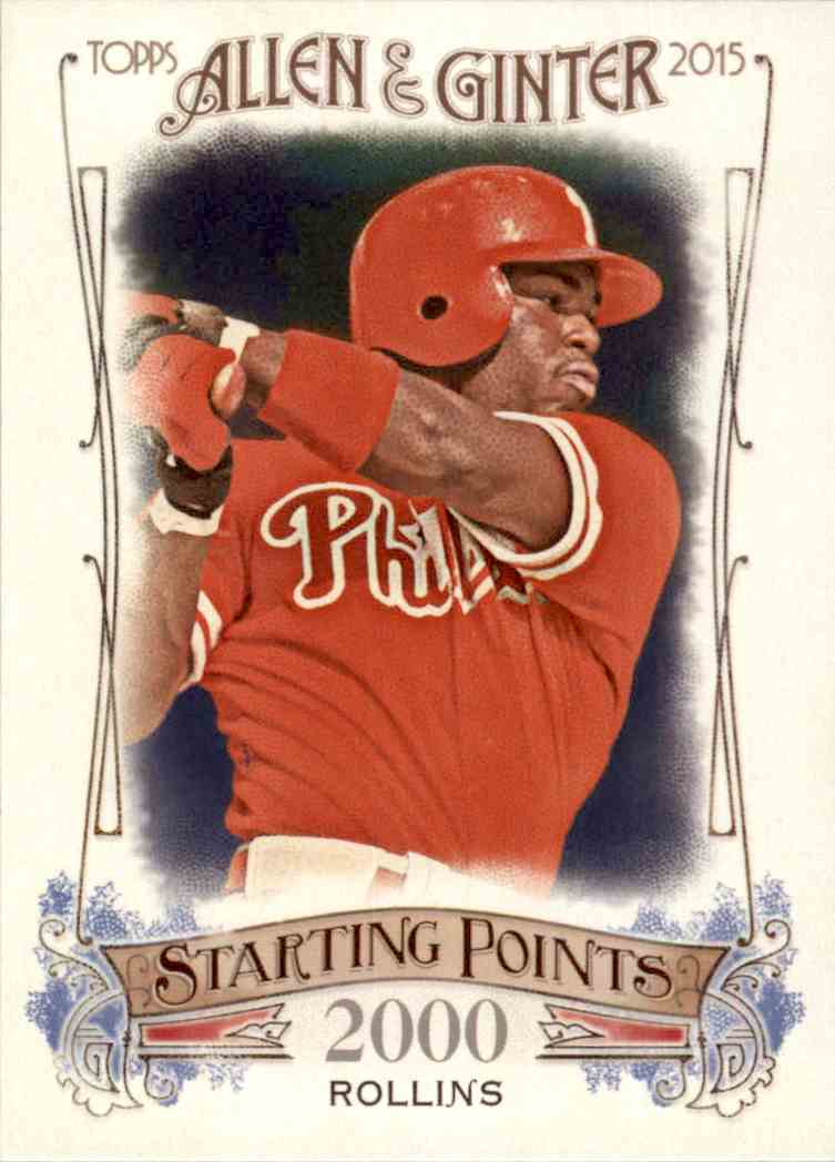 2015 Allen & Ginter Jimmy Rollins #SP-41 card front image
