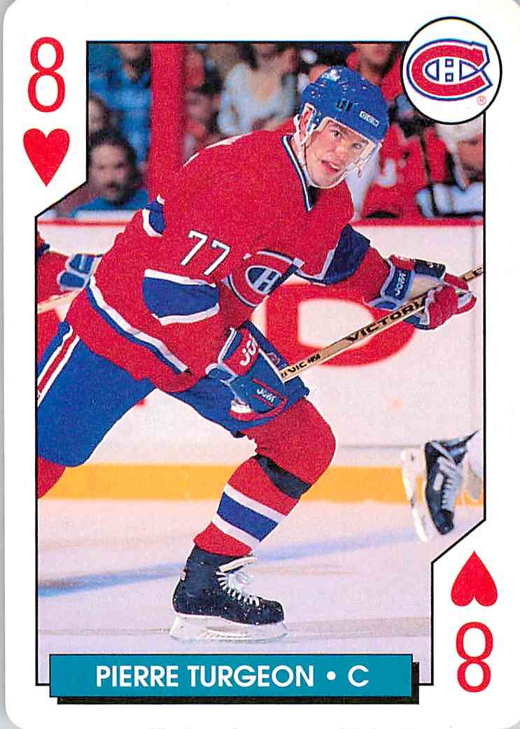 1996-97 Bicycle Pierre Turgeon #8 card front image