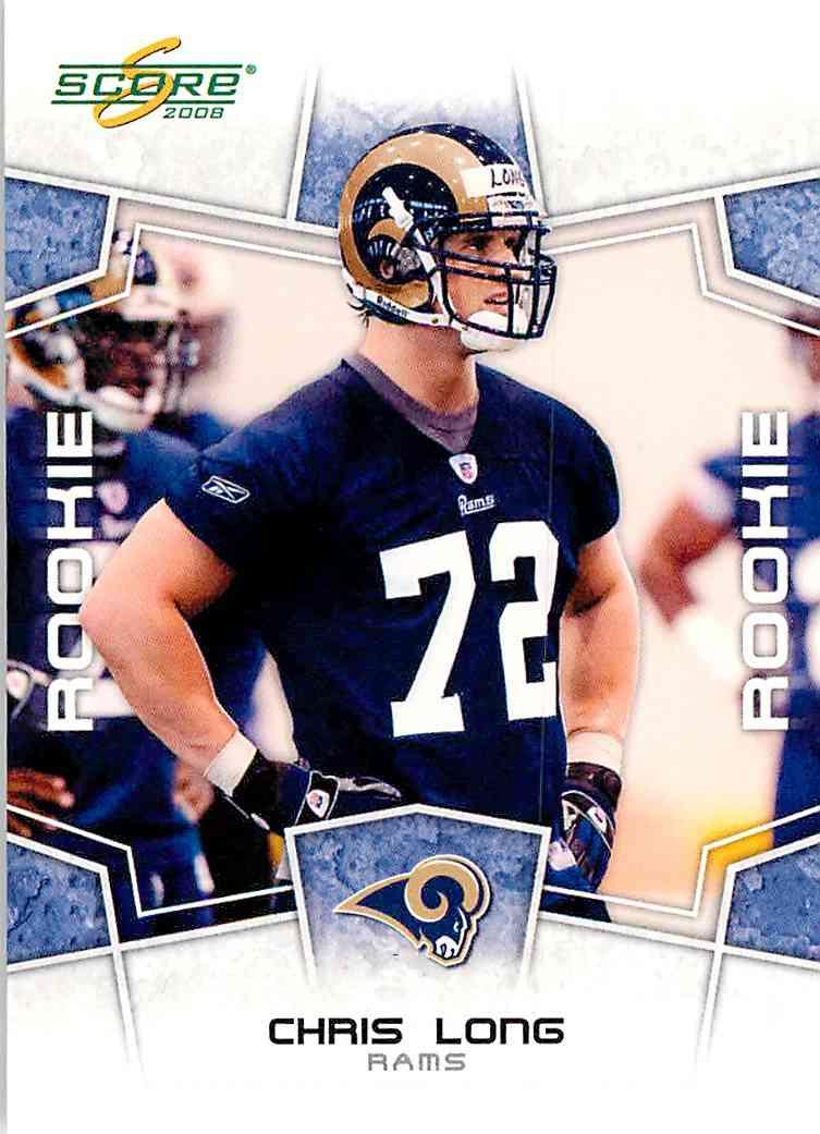 2008 Score Chris Long #332 card front image