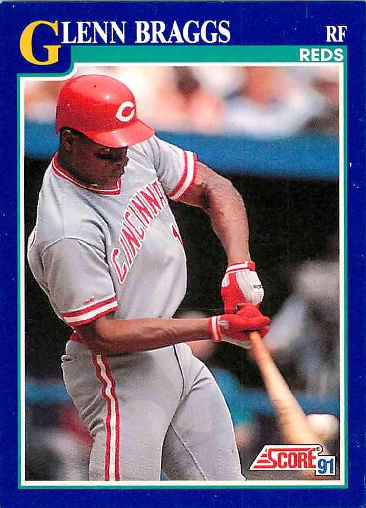 1991 Score Glenn Braggs #18 card front image