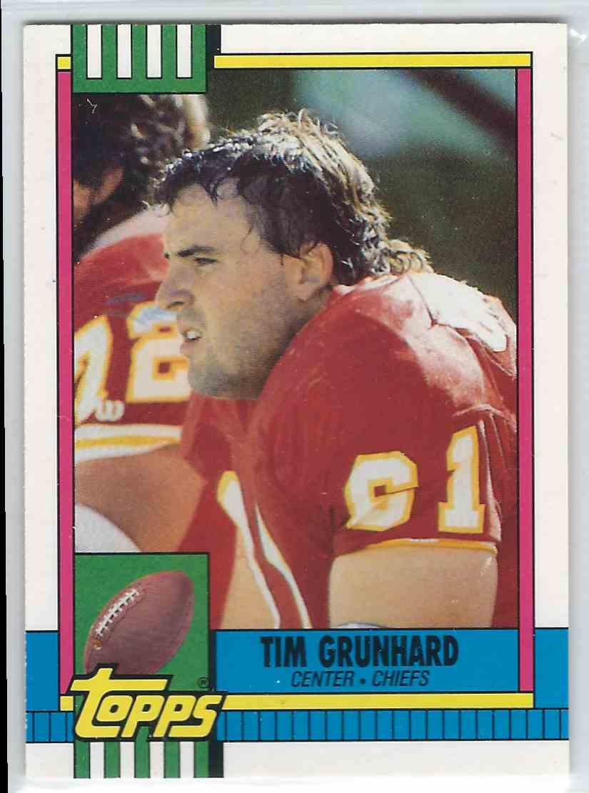 1990 Topps Traded Tim Grunhard #103T card front image
