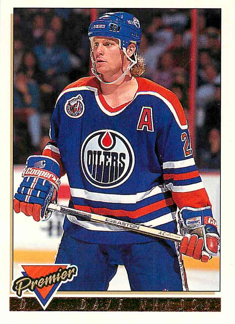 1993-94 Topps Premier Gold Dave Manson #71 card front image